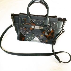 Coach swagger 27 embellished canyon quilt purse